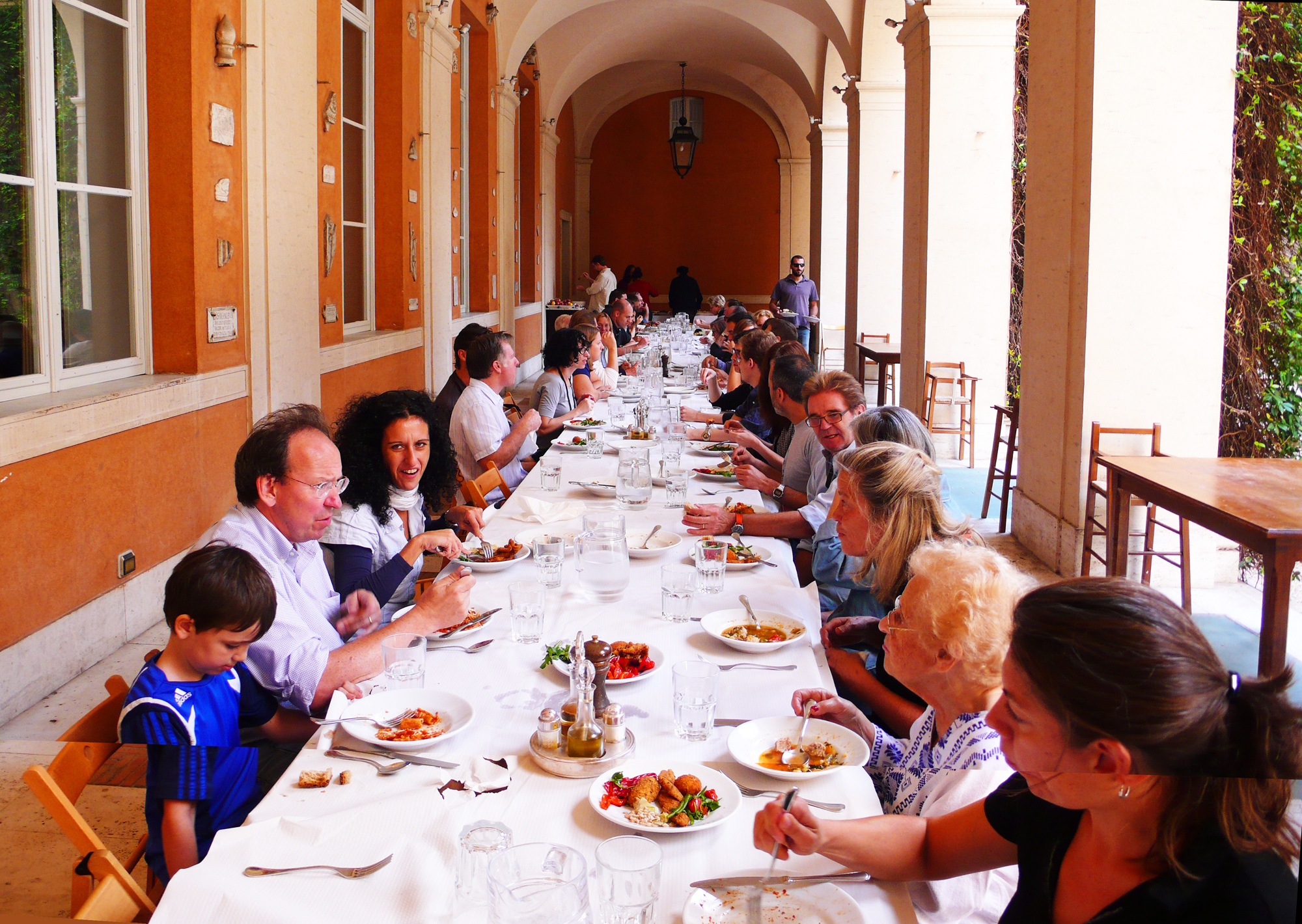 American Academy In Rome Lunch Table