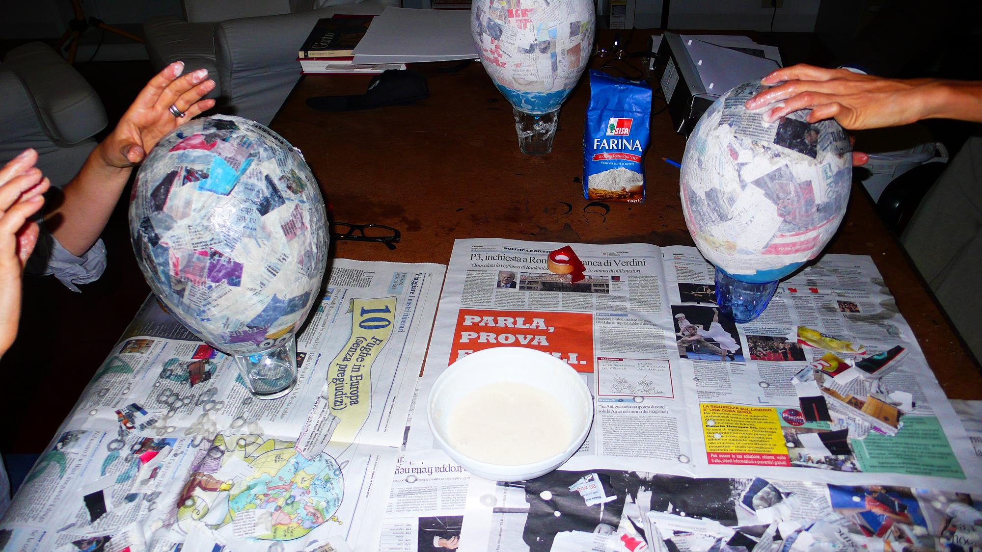how to make a paper mache gas mask