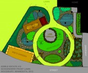 proposed layout of Edible Estate #15: Twin Cities