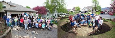 the Saturday and Sunday morning EE 15 garden volunteer crews
