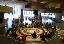 'The Possible' artists meeting on the rug
