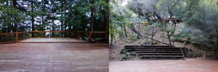 the Halprin's storied redwood dance platform