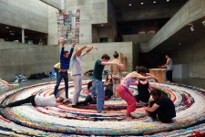 a moment in a movement activity on the rug
