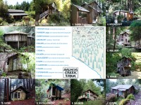 Salmon Creek Farm cabins and map, Dec 2014